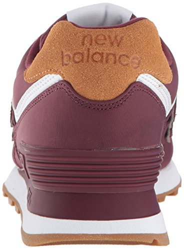 dames rood Balance New voor Nb 574 wit lage sneakers bordeaux XrwHnq8rpd