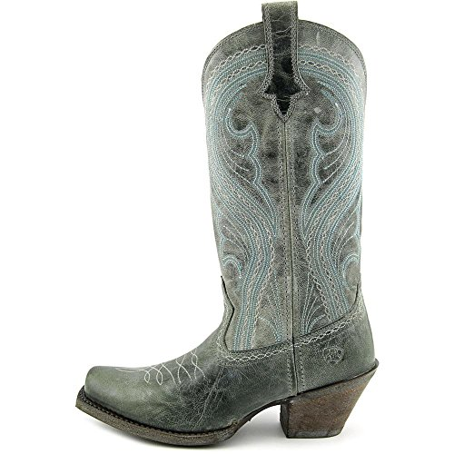 Lively Womens 5 Teal Cowboy Brown 5 Western B US Dusty West Boot Old Ariat 51dqO81