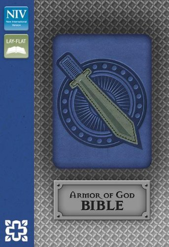 NIV, Armor of God Bible, Leathersoft, Blue/Silver