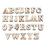 200PCS Wooden 0-9 Numbers and A-Z Wooden Letters DIY Toys for Kids Children Early Learning ( TYPE#1 Letters )