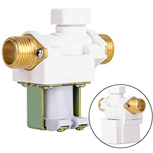 Beduan 12V Plastic Water Electric Solenoid Valve Normally Closed 1/2""