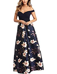 Kalin Sweetheart Neck Bodice Sexy Evening Gowns High Low Off The Shoulder Floral Maxi Long Dresses