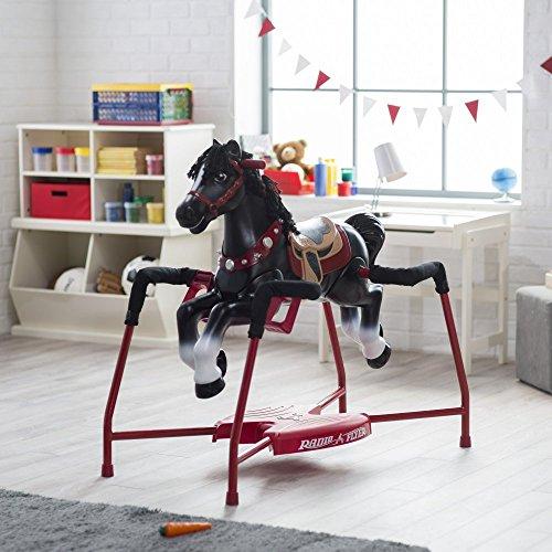 Radio Flyer Duke Interactive Riding Horse, Black, 36 x 41 x (Radio Flyer Rocking Horse)