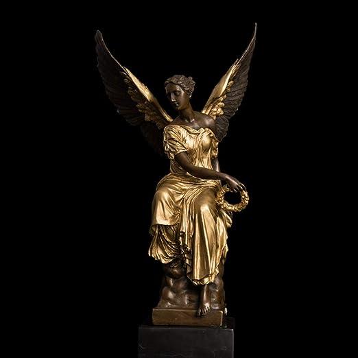 LIAOLEI10 Escultura Diosa de la Victoria Figuras Western Athena ...