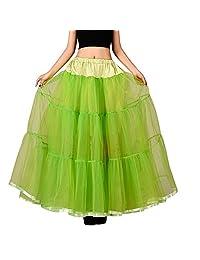 Drasawee Women's Long Tutu Dress Underskirt Ballet Skirt Crinoline Petticoat