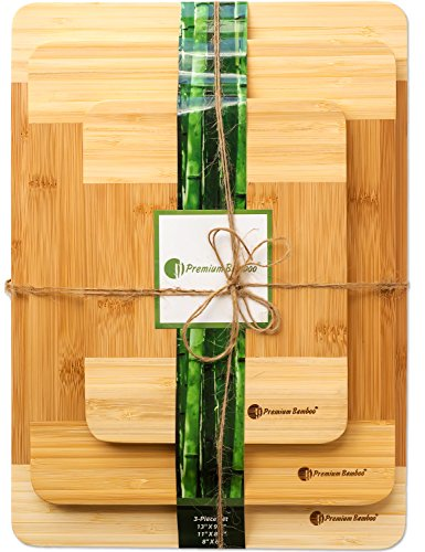 ♻ Extra Thick Eco-Friendly Bamboo Cutting Board Set -