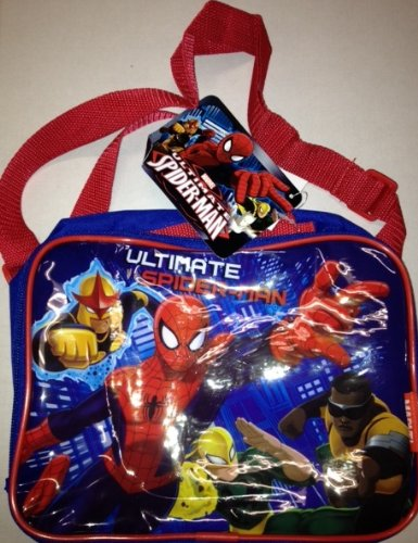 Marvel Spiderman Rectangle Lunch Bag with Adjustable Strap