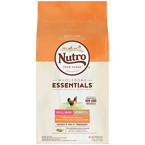 Nutro WHOLESOME ESSENTIALS Small Breed Puppy Farm-Raised Chicken, Brown Rice & Sweet Potato Recipe 5 Pounds (Breed Food Puppy Small)