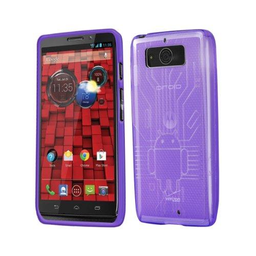 Droid Mini Case, Cruzerlite Bugdroid Circuit TPU Case Compatible for Motorola Droid Mini (Late 2013) - Purple