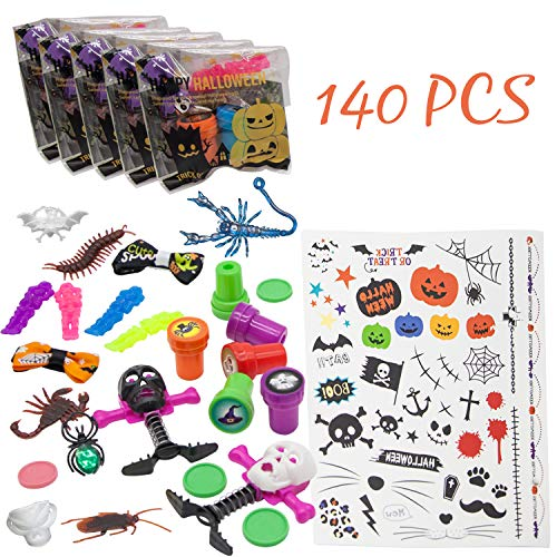 Bulk Halloween Toys Assortment for Kids-140 Pcs-Novelties Goodie Bags Fillers for Novelty Party Favors,Trick or Treat Supplies,School Classroom Giveaways,Filled Goody Bags,Game Prizes,Miniatures]()