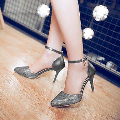 Boda Zapatos Black Negro Noche Rosa Piezas y Otro Blanco Tacón Stiletto y D'Orsay Lino Mujer Dos Fiesta club del Sandalias Vestido LvYuan HUw71q8aW