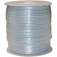 CableWholesale Bulk Phone Cord, Silver Satin, 28/4 (28 AWG 4 Conductor), Spool, 1000 foot