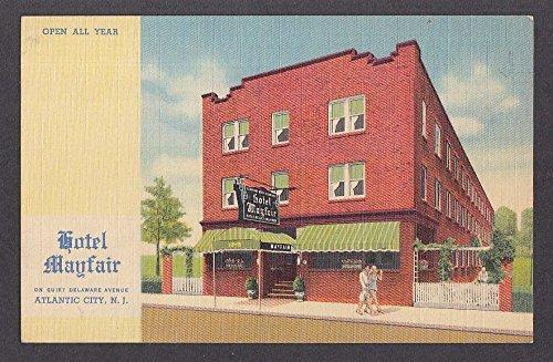 Hotel Mayfair Delaware Avenue Atlantic City NJ postcard - E Atlantic Avenue