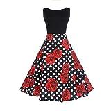 Sleeveless Dress Women,Hemlock Women's Office Dress Vintage Hepburn Dress Ball Gown Party Dress (XL, Black-2)