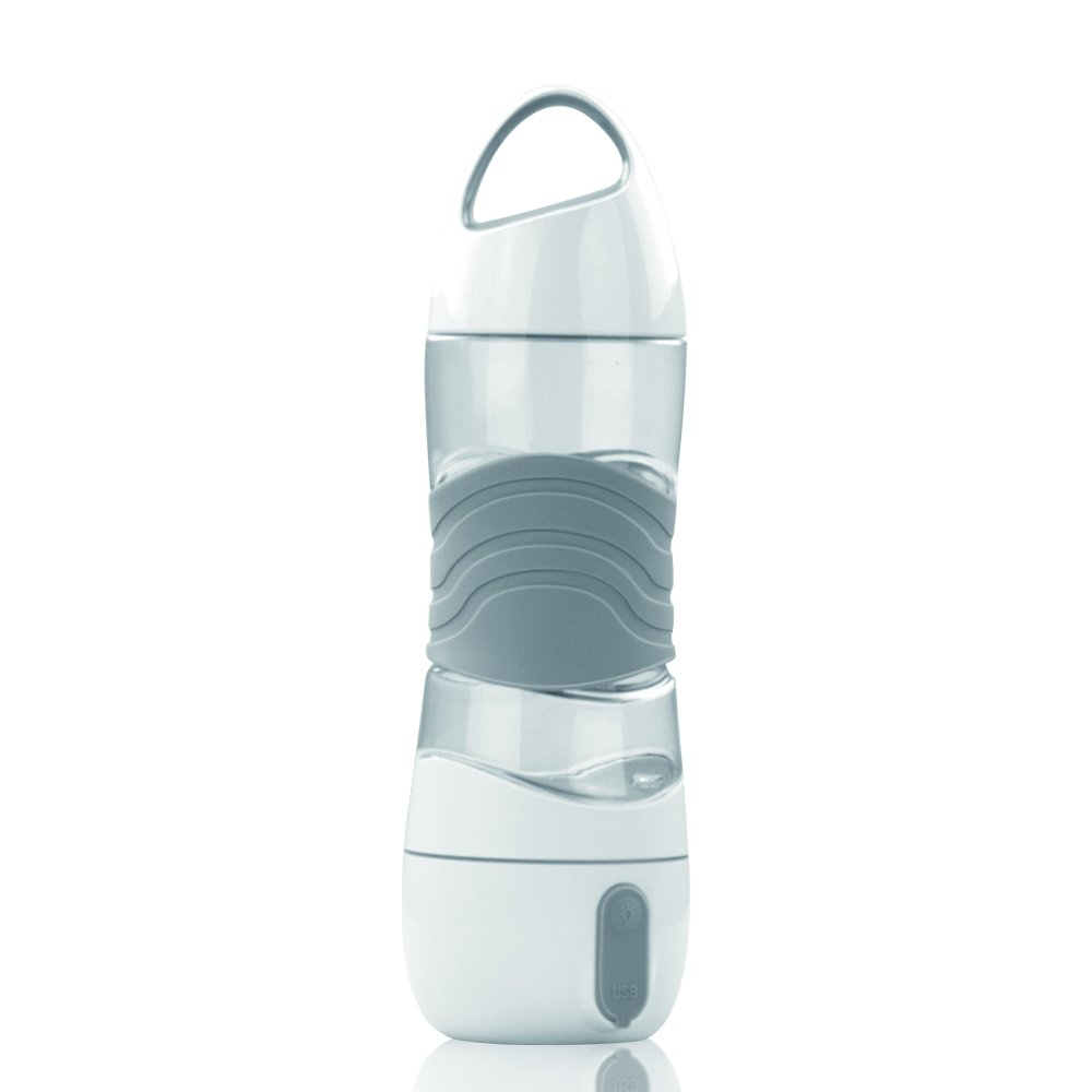 Travel Humidifier Water Bottle, HALOViE Smart Sports Water Bottle Moisturizing Mist Beauty Spray Ultrasonic Air Aroma Diffuser Purifier 400ml With USB Charging, LED Light, SOS Emergency by HALOViE
