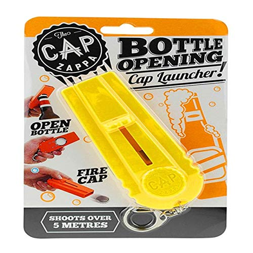 Sala-synth - Beer Bottle Openers Flying Cap Zappa Bottle Beer Opener Cap Launcher Fire Hat Key Ring Corkscrews Kitchen Tools QB882505 from Sala-synth