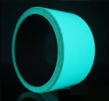 UniEco Leuchtband B/ühnenbedarf Warnklebeband Reflektorband Sicherheit Markierung in the Dark blau+gr/ün 1pc 30mmx5m