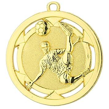 10 Fußball-Medaillen mit Deutschland-Bändern D4A Medaillen