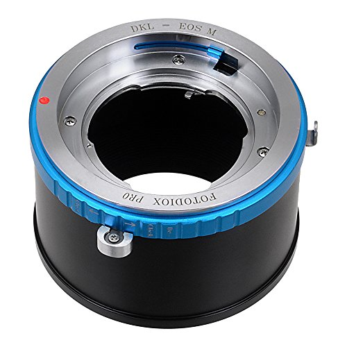 Fotodiox Pro Lens Mount Adapter - Kodak Retina Rangefinder and Retina Reflex SLR Lens to Canon EOS M (EF-M Mount) Mirrorless Camera Body Digital Mirrorless Camera with Selectable Clicked / Declicked Aperture Control