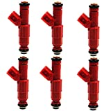 #1: NEW Genuine 4 hole Upgrade fuel injectors for Jeep-Dodge-Ford-Mercury V6 ( pack of 6)