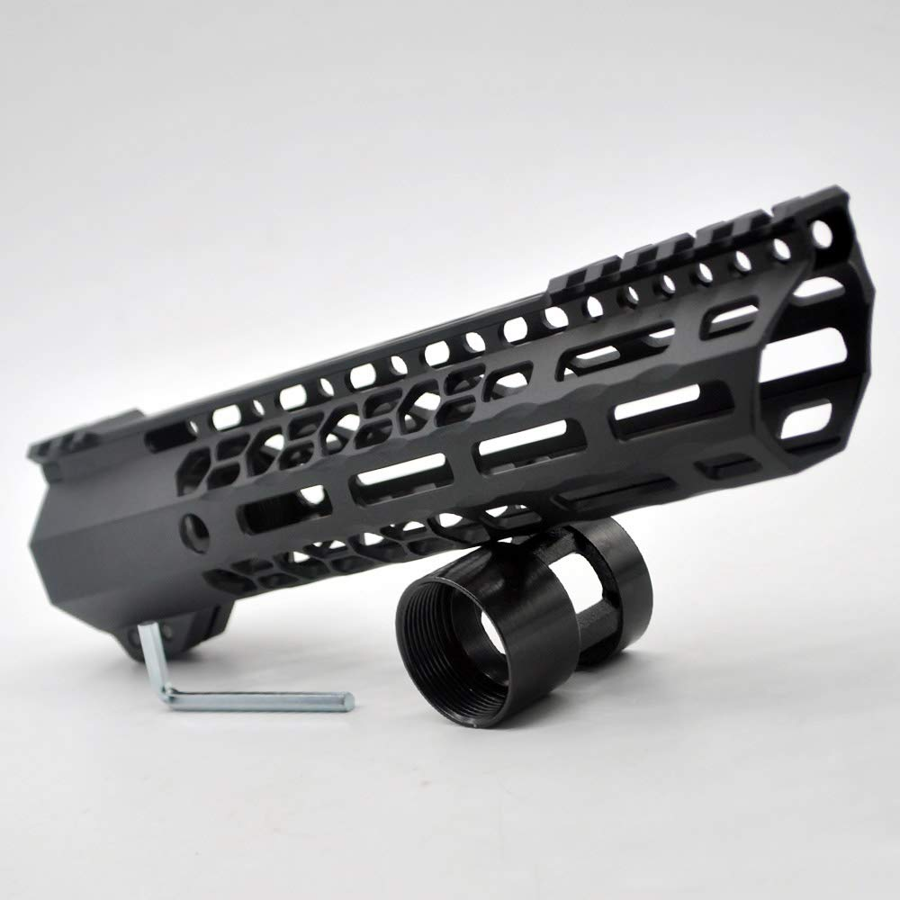 TRIROCK New Clamp Style 13.5 inches Black M-LOK Free Float AR15 M16 M4 Rifle handguard with a Slant Cut Nose fit .223//5.56 Rifles