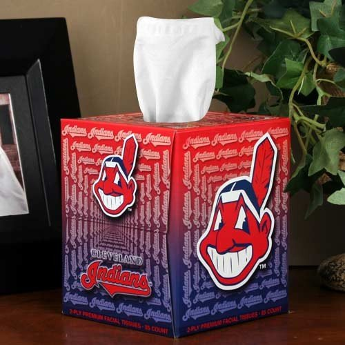 MLB Cleveland Indians Box of Sports Tissues