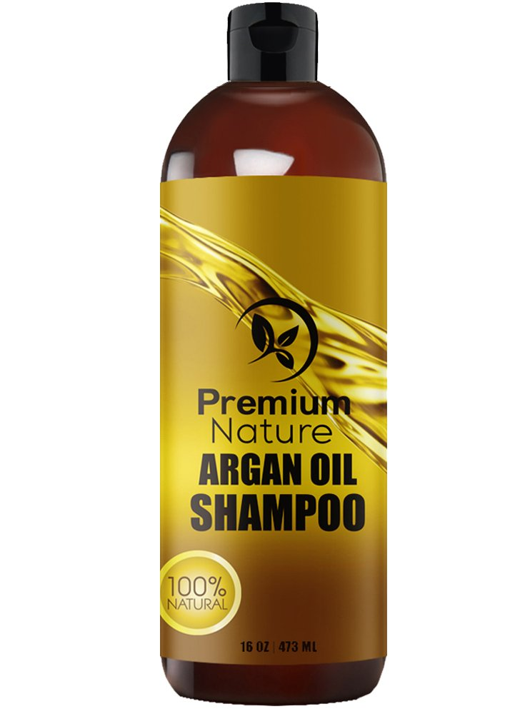 Argan Oil Daily Shampoo - 16 oz Rejuvenates Heat Damaged Hair Nourishes & Prevents Breakage Sulfate Free - All Hair Types - Dry Damaged Colored Hair - Volumizing & Moisturizing Premium Nature