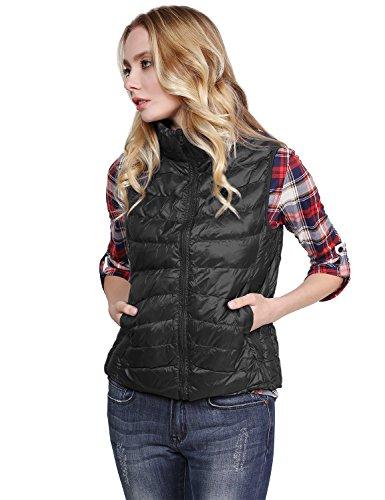 (Super Lightweight Goose Down Packable Outdoor Puffer Vest Black S Size)