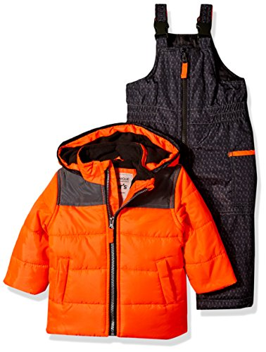 Carter's Boys' Infant Heavyweight Bubble 2 Pc Snowsuit, Orange, 12 Months
