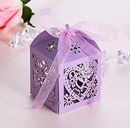 Amazon Haperlare 50pcs Love Heart Laser Cut Wedding Party Favor