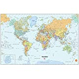 Wall Pops Peel and Stick World Dry-Erase Map with Marker