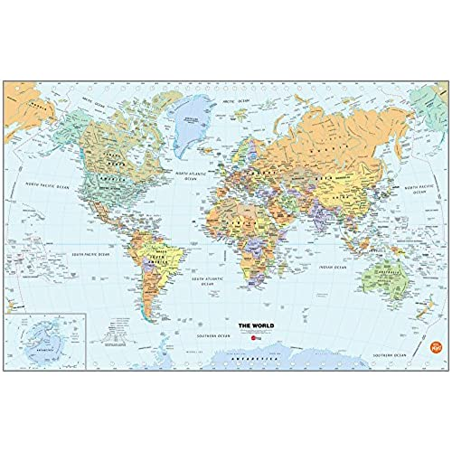 Travel wallpaper amazon brewster wall pops wpe99074 peel stick world dry erase map with marker gumiabroncs Gallery