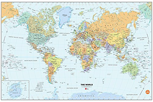 World Dry Erase Map Decal -