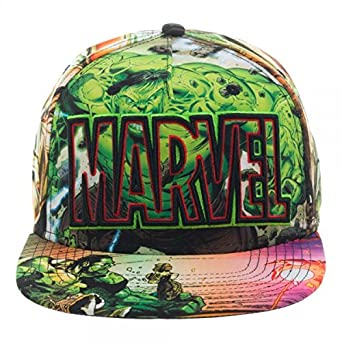 0cff7411d7e06 Amazon.com  Marvel Incredible Hulk Snapback Hat Comics Sublimated ...