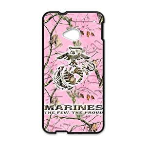 Canting_Good Marine Corps pink camouflage branches Custom Case Shell Skin for HTC One M7(Laser Technology)