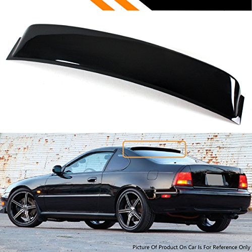 Cuztom Tuning For 1991-1996 4th Generation Honda Prelude JDM Black Rear Window Visor Roof Aero Spoiler ()