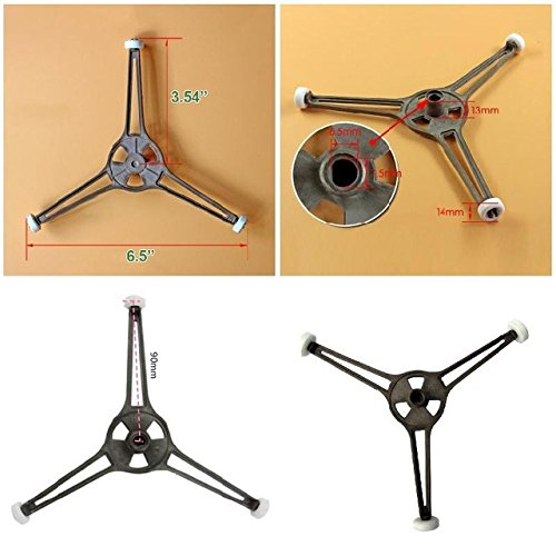 Microwave Plate Roller 1 Piece Microwave Oven Roller Guide Ring Glass Flat Plate Holder Turntable Support Stand With Triple Arm