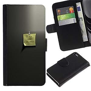 NEECELL GIFT forCITY // Billetera de cuero Caso Cubierta de protección Carcasa / Leather Wallet Case for Apple Iphone 4 / 4S // Estimado memo