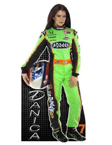Danica Patrick Go Daddy  7 Nascar Racing Lifesize Cardboard Cutout Standee Standup
