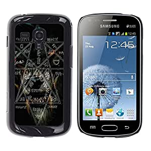 Design for Girls Plastic Cover Case FOR Samsung Galaxy S Duos S7562 Witch Rock Metal Heavy Pentagram Black Dark OBBA