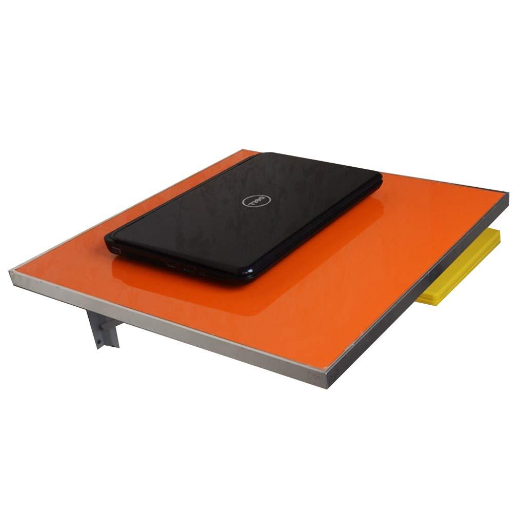 WNQ Escritorio De La Mesa De Comedor Plegable Mesa De Comedor Plegable De Aluminio De Lado A+ (Color : Orange, Tamaño : L45CMW45CM)