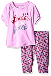 Under Armour Baby' Short Sleeve Tee and Legging Set, Verve Violet, 18 Months