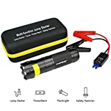 CHIFROG 10000mAh Multi-Function Torch Jump Starter with Strong LED flashlight with USB SOS Emergency Flashlight 20-30KM Emergency Drive Power Startup Solution, Outdoor explore vehicle mate