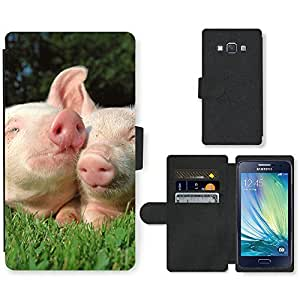PU Cuir Flip Etui Portefeuille Coque Case Cover véritable Leather Housse Couvrir Couverture Fermeture Magnetique Silicone Support Carte Slots Protection Shell // V00000278 Cerdo // Samsung Galaxy A3 SM-A300 (not fit S3)