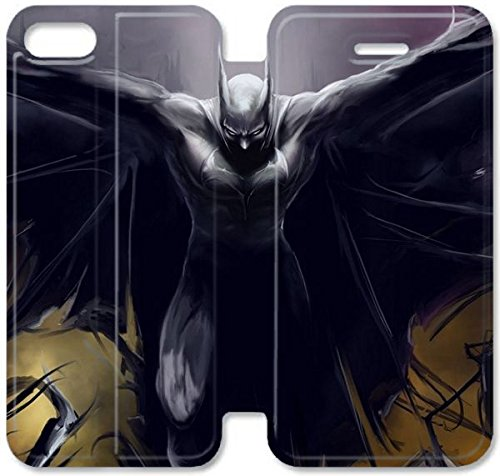 Klreng Walatina® Coque iPhone 6 6s Plus de 5,5 pouces Coque cuir Top Batman Films A6K5Bd