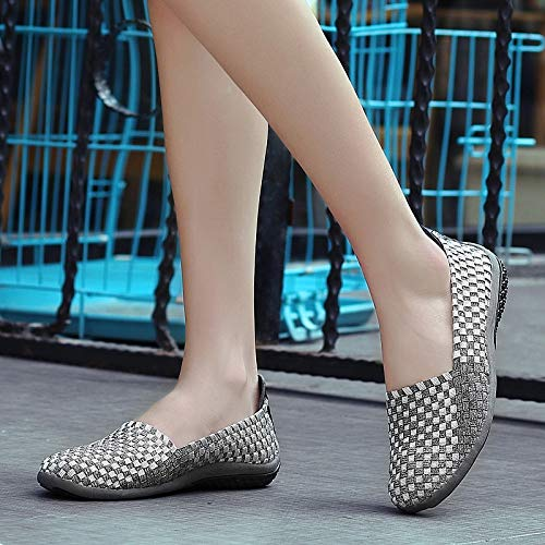 Lazy Woven Shoes Women'S Thirty Rose A Baggy Flat Breathable Sole Dancing KPHY Shoes Mother'S Shoes Five Color Shoes Soled Leisure Pedal Soft Shoes Up6q1x0