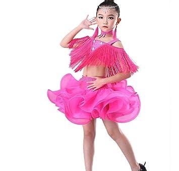 YZLL Trajes De Baile Latino para NiñOs, Traje De Baile con ...