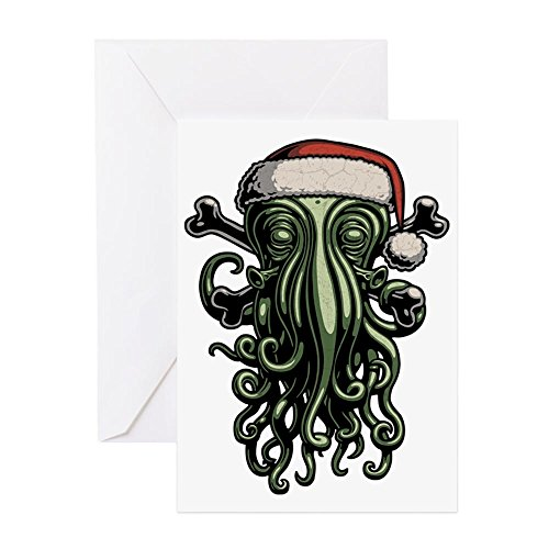 CafePress Cthulhu-Claus-T Greeting Card, Note Card, Birthday Card, Blank Inside Matte (Christmas Cards Cthulhu)