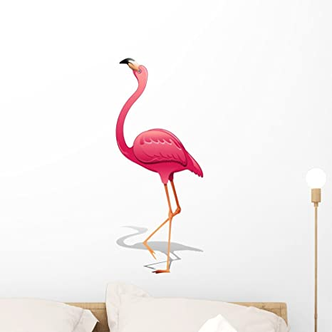 Amazon.com: Rosa de flamenco rosa flamingo-vector calcomanía ...