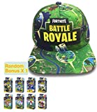 E-Hunter Battle Royale Unisex Adjustable Hats with Bonus Minifigure Hip Hop Baseball Caps for Boys Girls (Battle Royale, Green Mix)
